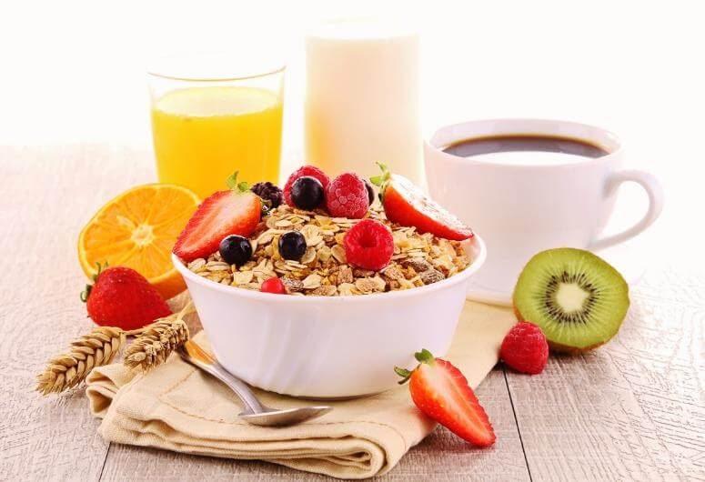 Desayuno variado.